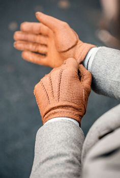 Hestra wool lined glove - Cork Peccary