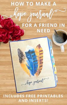 A Hope Journal is the perfect gift for a friend going through hard times. Learn how to make one (and download 20 pages of free downloadable printables and inserts) in this tutorial. Save now and click through to read!