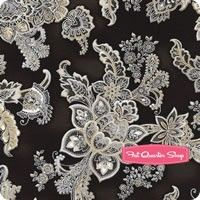 La Scala Metallic Onyx Paisley Bouquet Yardage SKU# 16482-181