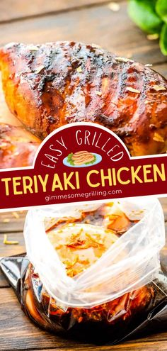 This quick and easy grilling recipe is perfect for weeknights! Thanks to a homemade marinade, these Teriyaki Chicken Breasts are tender, juicy, and packed full of flavor in every bite. It does not get much simpler than this! Make this easy dinner recipe tonight! Grilled Teriyaki Chicken, Grilled Chicken Recipes, Best Chicken Recipes, Recipe Tonight, Sweet N Sour Chicken, Pasta Casserole, Yum Yum Chicken, Veggie Dishes, Grilling Recipes