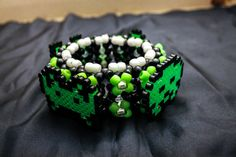 Space Invader 3D Kandi Cuff by DoheeCrafties on Etsy