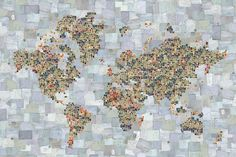 Off the Wall | Paul Smith for Maharam Digital Projects #collage #paper #map #world map