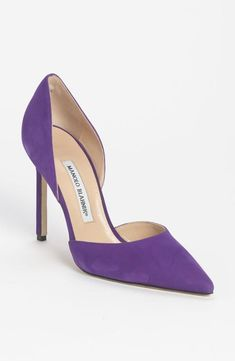 manolo blahnik purple shoes