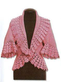 Romance Jacket free crochet graph pattern