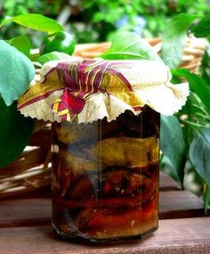 Aubergines in Oil: Pickled Aubergines withThermomix