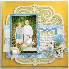 Fancy Frames scrapbook layout made with the #Cricut