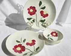blue ridge pottery - Google Search Ceramic Shop, Vintage Dinnerware, Blue Ridge, Decorative Plates, Old Things, Southern, Pottery, Ceramics, Tableware