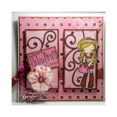 The Greeting Farm Rubber Stamp - Miss Anya Collection
