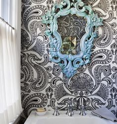 Natalie Nunes Interior Design- Powder Room