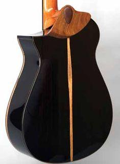 Beautiful African Blackwood classical guitar.