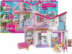 Brand New Hot Item Kids Girls Barbie Malibu House Playset Birthday Xmas Gift Barbie Puppy, Barbie Doll Set, Doll Clothes Barbie, Mattel Barbie, Dreamhouse Barbie, Unicorn Bedroom Accessories, Barbie Accessories, Malibu Barbie, Malibu Homes