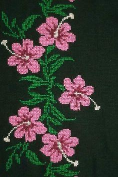 Cross Stitch Rose, Cross Stitch Flowers, Cross Stitch Designs, Cross Stitch Patterns, Ethnic Bag, Linen Bedding, Crochet, Projects, Cross Stitch Borders