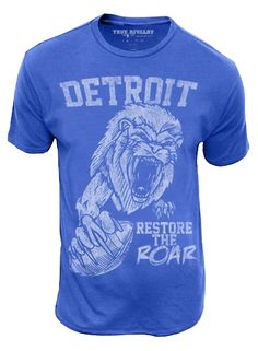 restore the roar this shirt is a must have for any lions fan