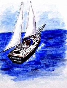Sailing Away Mini Art Print by Clyde J. Kell Art Works - Without Stand - x Sail Away, Decor Styles, Cool Art, Sailing, Gallery Wall, Art Prints, Mini, Artwork, Artist