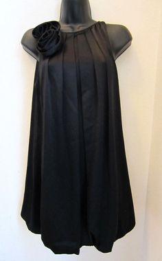 ABS Collection Dress 2 Black Sleeveless Bubble Hem Flower Women CLEARANCE SALE   eBay