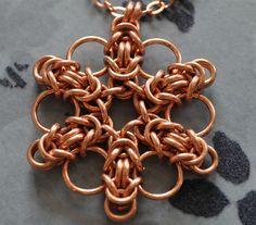 byzantine snowflake pendant