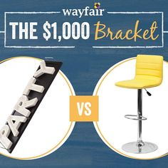 Introducing the Wayfair Bracket! Our spin on the traditional bracket will have a new match-up every three days. Correctly pick each winner and youll be entered for the chance to win a $1000 Wayfair gift card. Click the #LinkInProfile to play our first match-up. #giveaway by wayfair