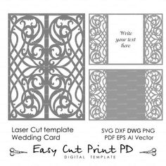 #lasercutting #lasercuttemplate #laserinvitations #weddinginvitations #invitations #cut #cameo #clipart #cutting #cardmaking #cutpattern #cuttemplate #svg #svgcut #scrapbook #Silhouette #svgcutting #scrapbooking #silhouettecameo #die #dies #decal #diecut by easycutpd