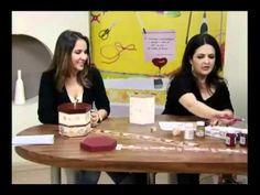 Porta Panetone - Artesã Marisa Magalhães - Aquarela Brasil Tintas - parte 1/2 - YouTube