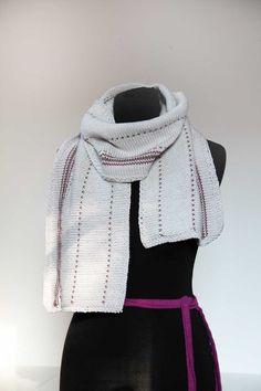 Návod na dámskou nebo pánskou pletenou šálu