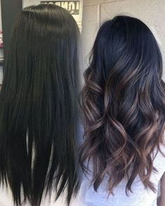 Good color for my mom! 25 pretty fall hair color for brunettes ideas 11 balayage dark hair Fall Hair Color For Brunettes, Hair Color For Black Hair, Black Hair Ombre, Dark Fall Hair Colors, Hair Ideas For Brunettes, Autumnal Hair Colour, Dye For Dark Hair, Hair For Fall, Raven Hair Color
