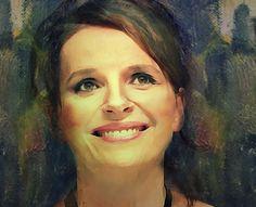 Juliette Binoche  by Rosane Farias https://www.facebook.com/Digital-Art-233512313519943/?pnref=story