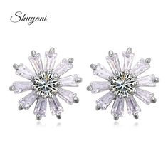 Find More Stud Earrings Information about Sterling Silver Daisy Flower Stud Earrings For Women Austrian Crystal Flower Earrings Fashion Jewelry Brincos Para as Mulheres,High Quality flower girl dress orange,China flower gold earrings Suppliers, Cheap flower girl earrings from shuyani Official Store on Aliexpress.com