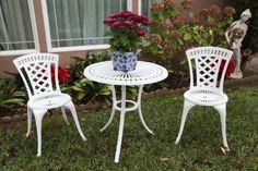 "Outdoor Patio Deck Aluminum Furniture 3 Pc Bistro Set D with 27.5"" Table CBM1290"
