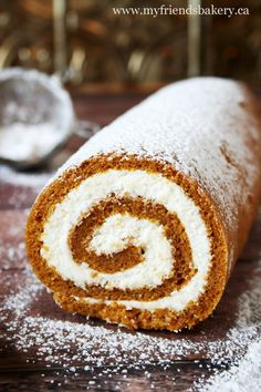 Pumpkin Roll With Cream Cheese Filling | My Friend's Bakery