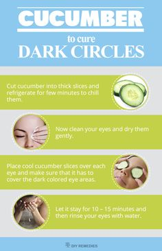 Cucumber to Dark Circles This is a simple but most effective method of using cucumber. #Cucumber #undereyes