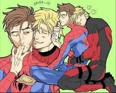 Marvel Comics, Marvel Comic Universe, Marvel Funny, Marvel Memes, Marvel Avengers, Spideypool, Superfamily Avengers, Deadpool X Spiderman, Yuri