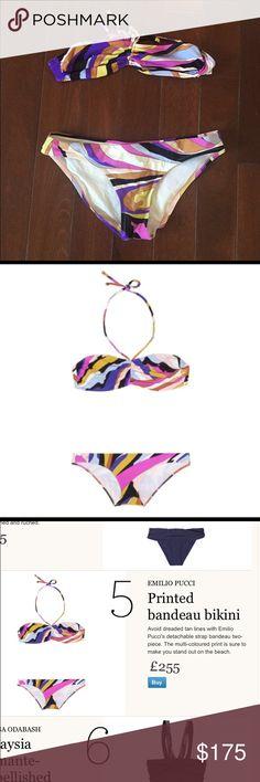 Bandeau/Halter Emilio Pucci Bathing suit👙 Emilio Pucci Multi color Bikini Emilio Pucci Swim Bikinis