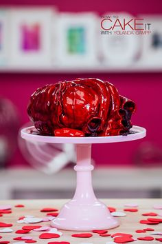 Eat your heart out this Valentine's Day! My anatomically correct human heart cake is perfect for anyone mending a broken heart this year. #Baking #Dessert