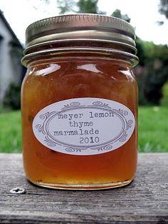 Meyer Lemon and Thyme Marmalade