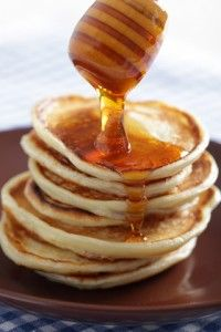 Photo about Stack of pancakes with pouring honey closeup. Image of dessert, pancakes, pouring - 17726837 Honey Pancakes, Pancake Stack, Soft Foods, Convenience Food, Crepes, Smoothies, Banana, Breakfast, Sweet