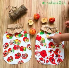 Perhekerho K-mäki 2018 (Great easy fall craft. Easy Fall Crafts, Fall Crafts For Kids, Kids Crafts, Art For Kids, Diy And Crafts, Fall Art For Toddlers, Harvest Crafts For Kids, Leaf Crafts, Apple Activities