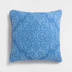 BLUE WASHED RAMIE CUSHION