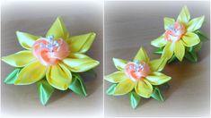 Здравствуйте, дорогие зрители! Меня зовут Алена, и сегодня я вам покажу, как сделать нарцисс из ленты. Цветок канзаши будет состоять из трех видов лепестков,...
