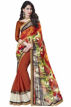 • Fabric: Georgette multicolor saree • Size : 5.5 m + 0.90 m Blouse • Easy to wash • Perfect Finshing just as shown in picture • Color:multicolor