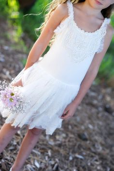 tulle flowergirl dress by Tea Princess http://www.teaprincess.com.au/collections/ivory-wildflower-collection