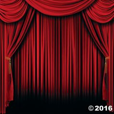 Red Curtain Backdrop Banner - OrientalTrading.com