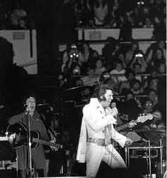 Elvis and Charlie Hodge live at Madison Square Garden