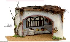 Risultati immagini per casas para pesebres Christmas Crib Ideas, Christmas Ornaments, Ceramic Houses, Garden Shop, Holidays And Events, Decoration, Gingerbread, Sculptures, Holiday Decor
