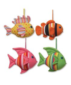 Another great find on #zulily! Bubbly Fish Plush Toy - Set of Four #zulilyfinds