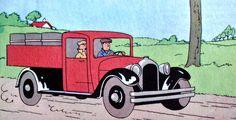 Tintín en América - Camioneta Ford 30 de la Policía de Chicago con toneles falsos de whisky (2)