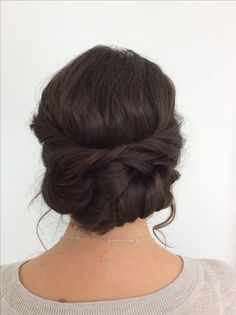 loose wedding up do, bridal hair