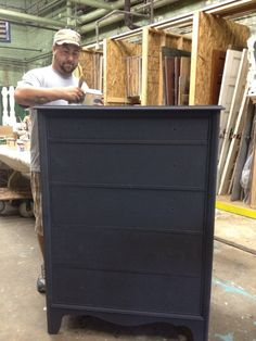 Decoupaged Dresser – In Memory of My Father — American Paint Company