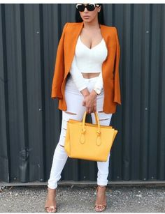 White on orange