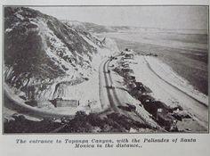 Entrance to Topanga Cyn, with the Palisades of Santa Monica in the distance -- Topanga Beach,California.