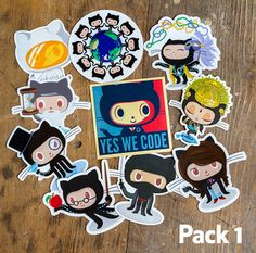 *Pssst* Yeah, you over there. That one sticker on your laptop is looking mighty lonely. Check out these sticker packs with some of our most loved stickers and a few new stickers thrown into the mix.